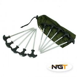 NGT sada zavrtávacích kolíků na bivak 10 ks