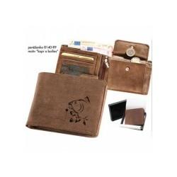 Rybářská peněženka - kožená