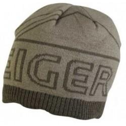 Čepice Eiger Logo Knitted Hat w/Fleece Lining Olivová zelená