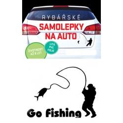 Samolepka na auto - Go fishing