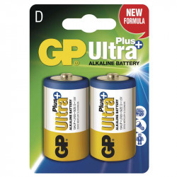 Alkalická baterie GP Ultra Plus LR20 (D), blistr 2kusy