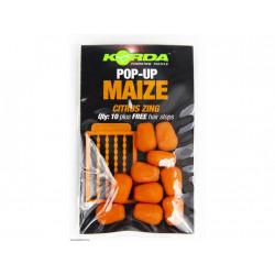 Korda Pop-Up Corn Citrus Zing 12ks - orange (citrusové plody) umělá kukuřice plovoucí